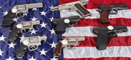 Guns on the flag