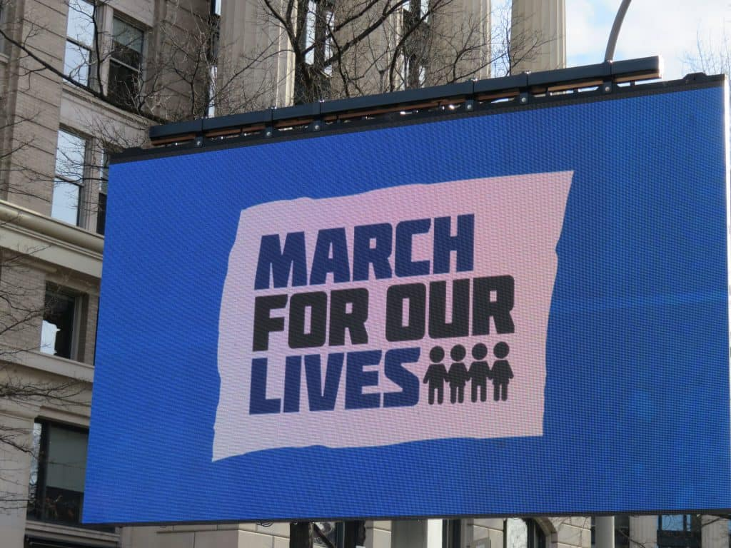 March for our lives sign