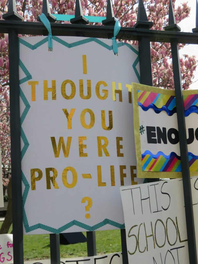 Thought you were pro-life sign.