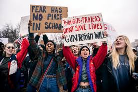 Protest guns sign