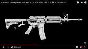Semi-Automatic 3-D Gun